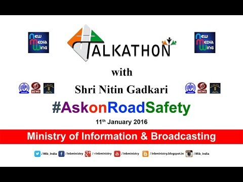 #Talkathon on Road Safety with Union Minister Shri Nitin Gad