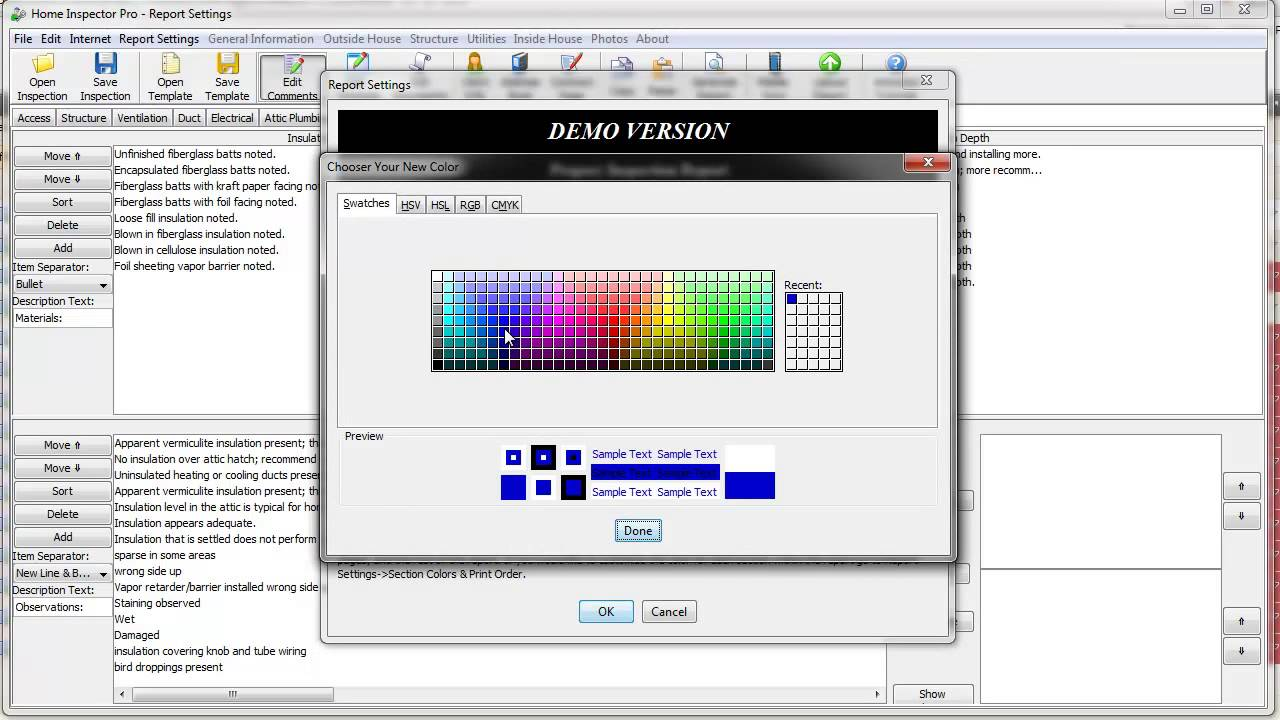 Home Inspector Pro Inspection Software's Advanced Colors Feature ...