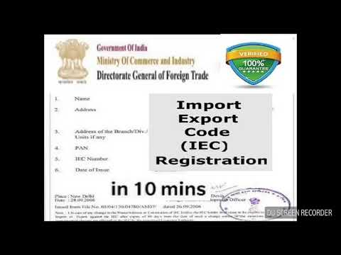 Get Import_Export_code certificate in 10mins from mobile/iec code/from computer & mobile possible