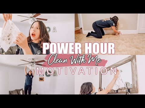 POWER HOUR CLEAN WITH ME 2019 | SPEED CLEAN WITH ME | DUSTING CEILING FANS AND MORE!