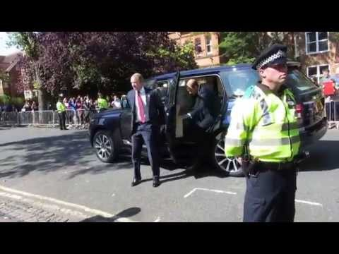 Prince William (sans Kate) visits St Hugh's College, Oxford