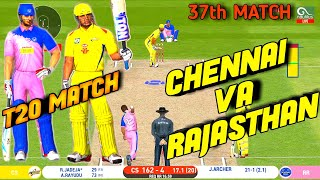 IPL 2020-CHENNAI SUPER KINGS VS RAJASTHAN ROYALS 37 MATCH HIGHLIGHTS IN Real Cricket™ 20   CSK VS RR