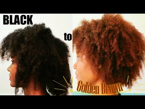 Black To Light Golden Brown How I Dyed My Hair Youtube