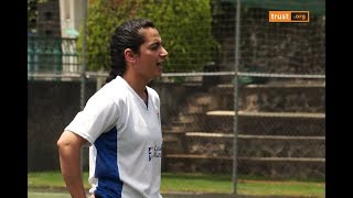 Afghan football star helps Mexican streetkids score World Cup goal