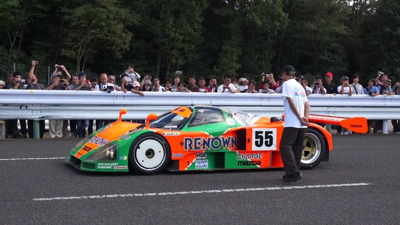 mazda 787b le mans winning car in miyoshi test course car watch youtube. Black Bedroom Furniture Sets. Home Design Ideas