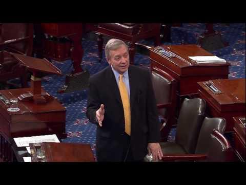 Durbin joins Senator Merkley in protest against the Gorsuch nomination on the Senate floor