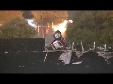USAC/CRA Sprint Car Crash @ Petaluma Speedway 9/5/16