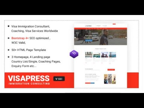 Visapress an Immigration and Visa Consulting Website Template ...