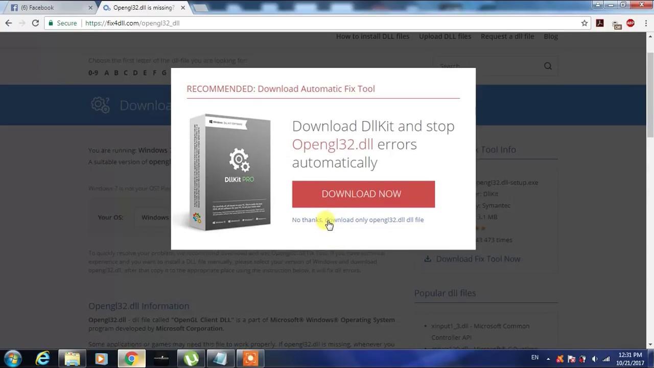 Download opengl32 dll.