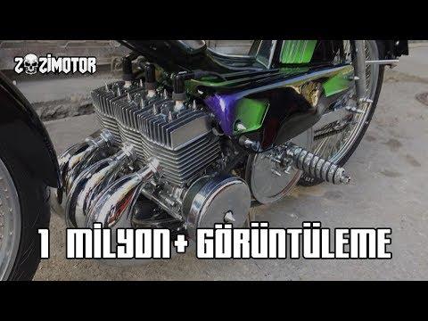 Motorcu Ejder Yapımı Üç Silindir Mobylette   Zozi Motor