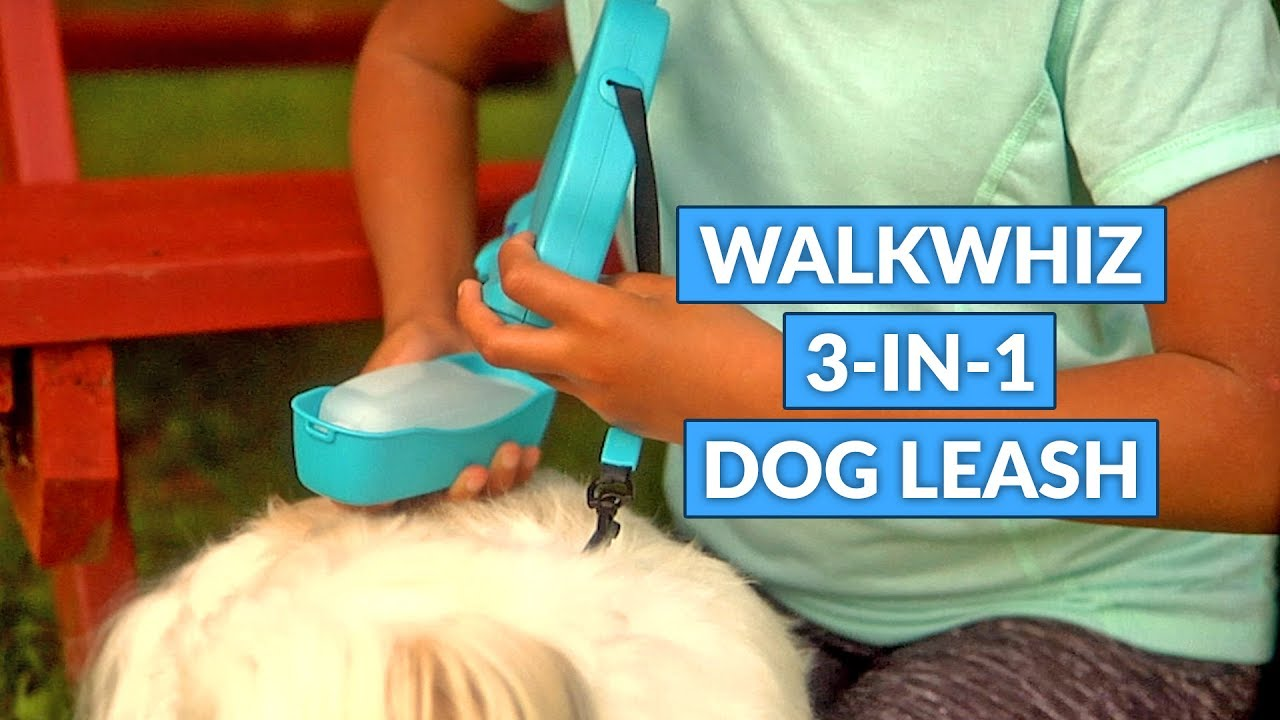 Walkwhiz Retractable Dog Leash With Integrated Water Bowl And Bag Holder