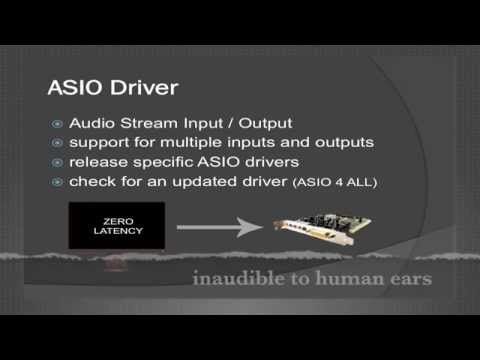 Driver and Buffer, Audio Driver Types and Latency