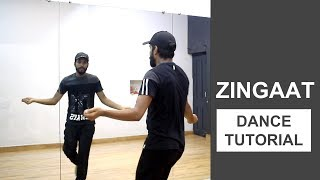 Zingaat Dance Tutorial | Deepak Tulsyan Choreography | Bollywood Dance | Hindi