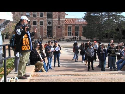 BACK at the University of Colorado at Boulder | Open AIr Preaching | Kerrigan Skelly