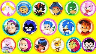 Baixar Learn Colors Disney Nick Jr Sonic Boom Teen Titans Go Toys Surprise Egg and Toy Collector SETC