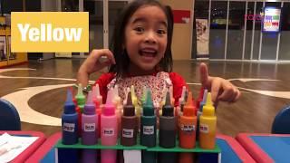 Belajar Warna dengan Membuat Hiasan Dinding | Zara Cute berkreasi di Mall