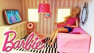 Barbie house DIY  !كيف نصنع بيت باربي أثاث و سرير باربي عملنا بيت الأحلام باربي ببلاش دون تكلفة