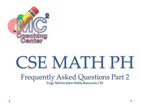MATH PH FAQs PART 2 CIVIL SERVICE EXAM REVIEW