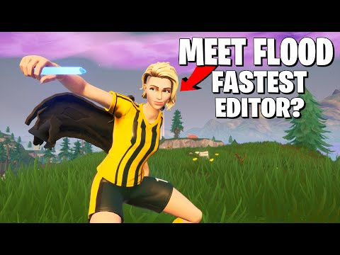 REACTING TO FLOOD (WORLDS BEST FORTNITE EDITOR) MIND BLOWING SPEED