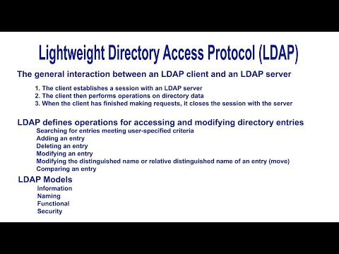 Lightweight Directory Access Protocol (LDAP) - Introduction
