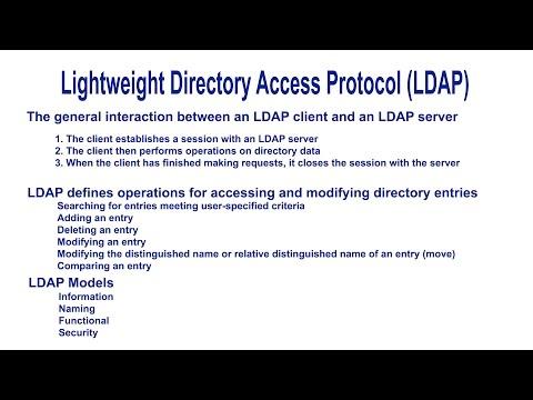 Lightweight Directory Access Protocol (LDAP) - Introduction