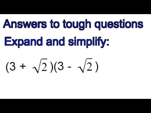 How to expand and simplify surds in brackets - GCSE exam question