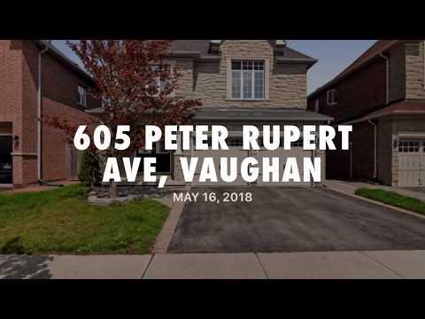 605 Peter Rupert Ave, Vaughan. 2-Car-Grg Detached House For Sale
