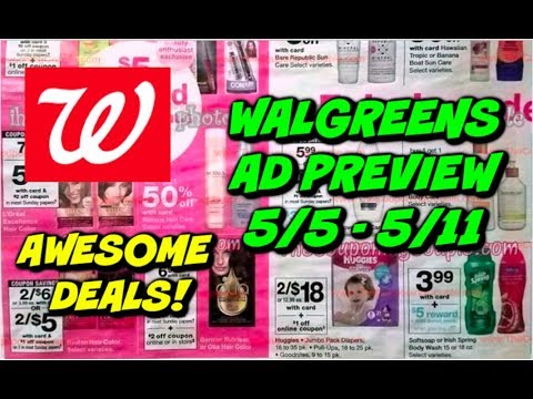 WALGREENS AD PREVIEW (5/5 - 5/11) FREE TOOTHPASTE, 99¢ DETERGENT, 49¢  BODYWASH & MORE!