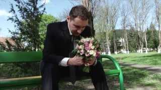 Встреча жениха с невестой в парке. Свадебный клип