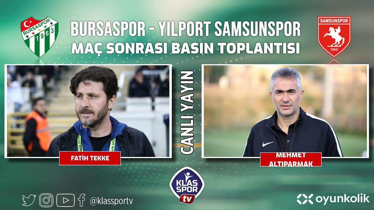 Bursaspor- Samsunspor Basın Toplantısı ᴴᴰ (CANLI)