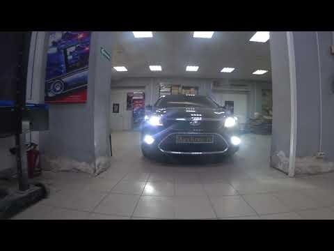 Макслюкс Ford Focus 2 restyling установка линз в фары