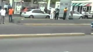President Obama In Jamaica Traveling On The New Road In Kingston