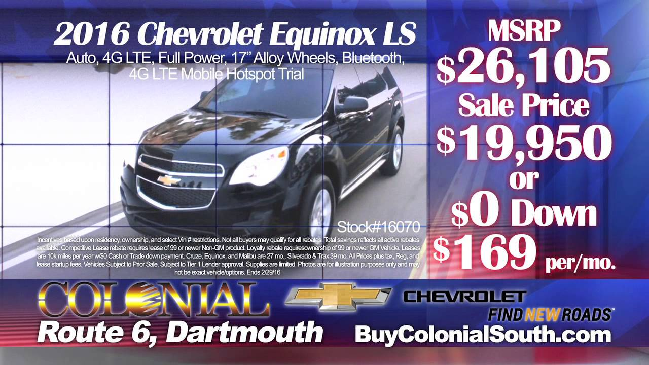 Colonial South Chevrolet >> Colonial South Chevrolet Presidents Day Sale Event 2016