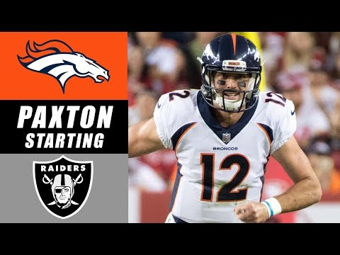 Paxton Lynch Named Broncos Starting Quarterback