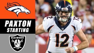 Paxton Lynch Named Broncos Starting Quarterback