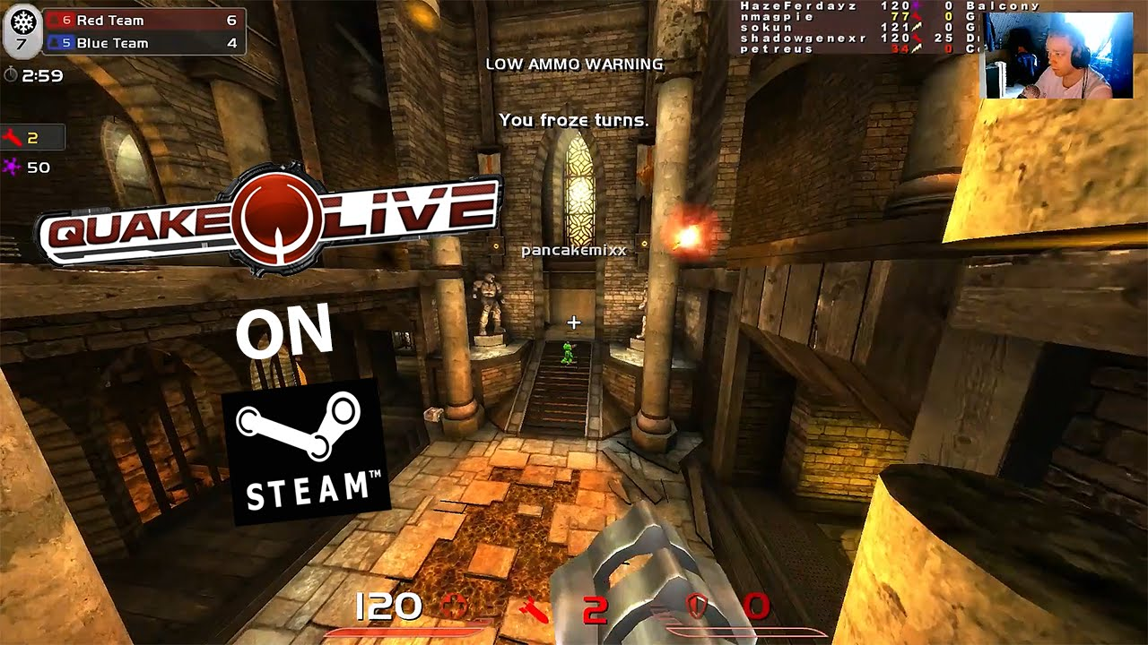 Quake Live on Steam! Best Freeze tag match ever with insane kills and shots