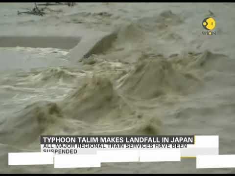 Typhoon Talim makes landfall in Japan