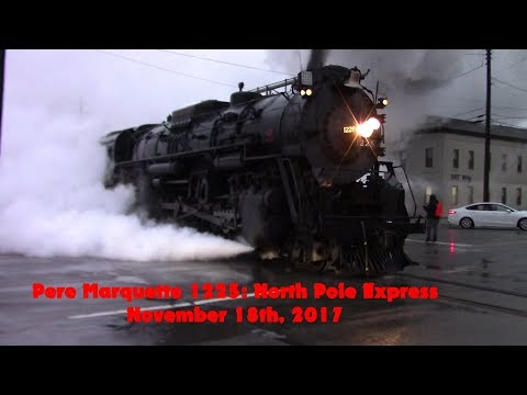 Pere Marquette 1225: North Pole Express 11-18-2017