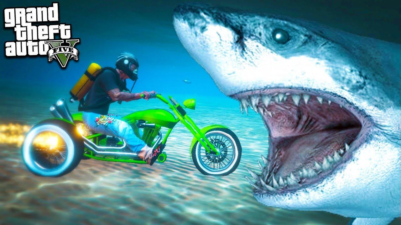 Может ли Мотоцикл Ездить под Водой Эксперимент в Гта 5 Моды! Обзор Мода в Gta 5! Игры Гта Видео Mods