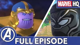 black panther vs thanos lego marvel black panther trouble in wakanda all episodes