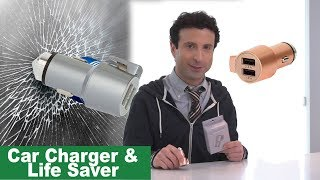 USB Charger, Window Breaker and Seat Belt Cutter Review
