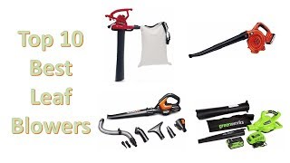Top 10 Best Leaf Blowers of 2018 You Can Buy on Amazon