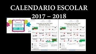 Soy Docente: CALENDARIO ESCOLAR 2017 - 2018