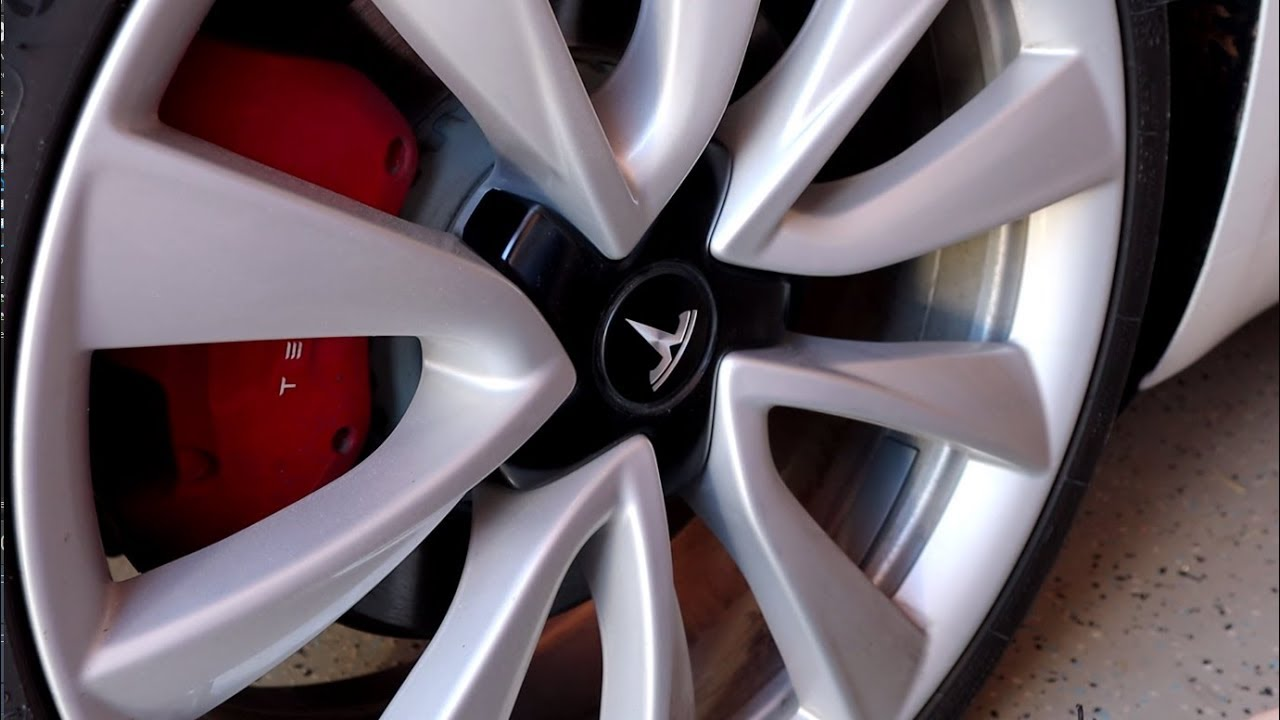 How to Remove a Tesla Model 3 Wheel Cap - YouTube