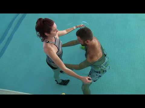 SCI Standing & Walking Program in the Pool at Helen Hayes Hospital