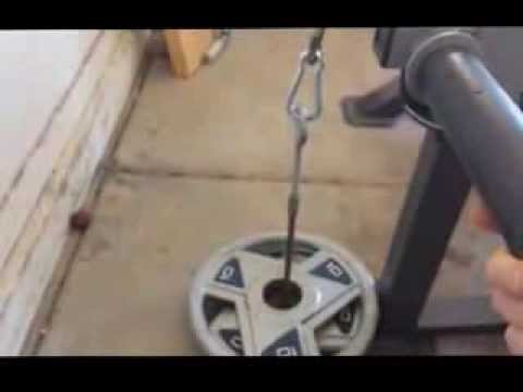 home made lat pull down system youtube