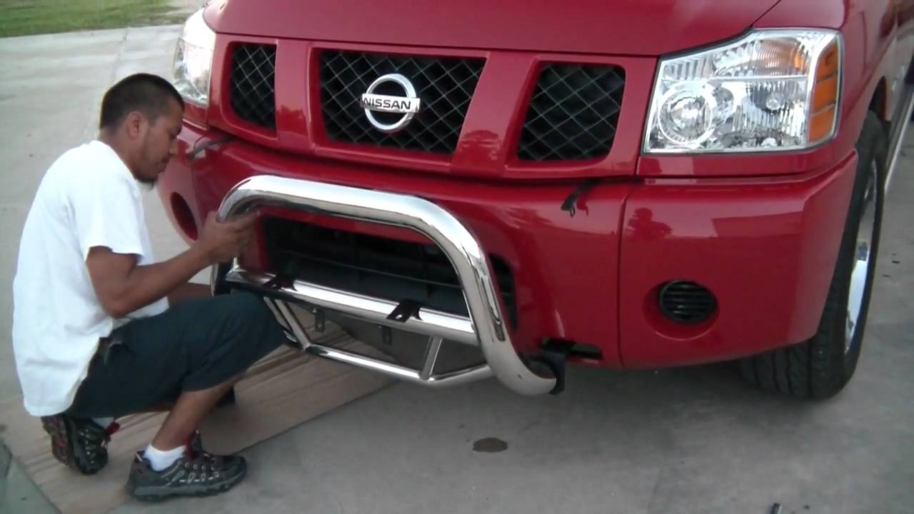 How To Install Bull Barr On A Nissan Titan 1 1 Youtube