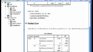 Partial Correlation  - SPSS (part1)