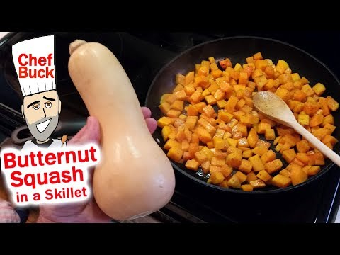 Butternut Squash In A Skillet Quick And Easy Recipe