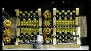 Драпировка тканью за столом молодых. Сердце из шаров(Украшение ресторанов воздушными шарами в Днепропетровске Оформление воздушными шарами, украшение воздуш..., 2012-10-03T08:05:43.000Z)